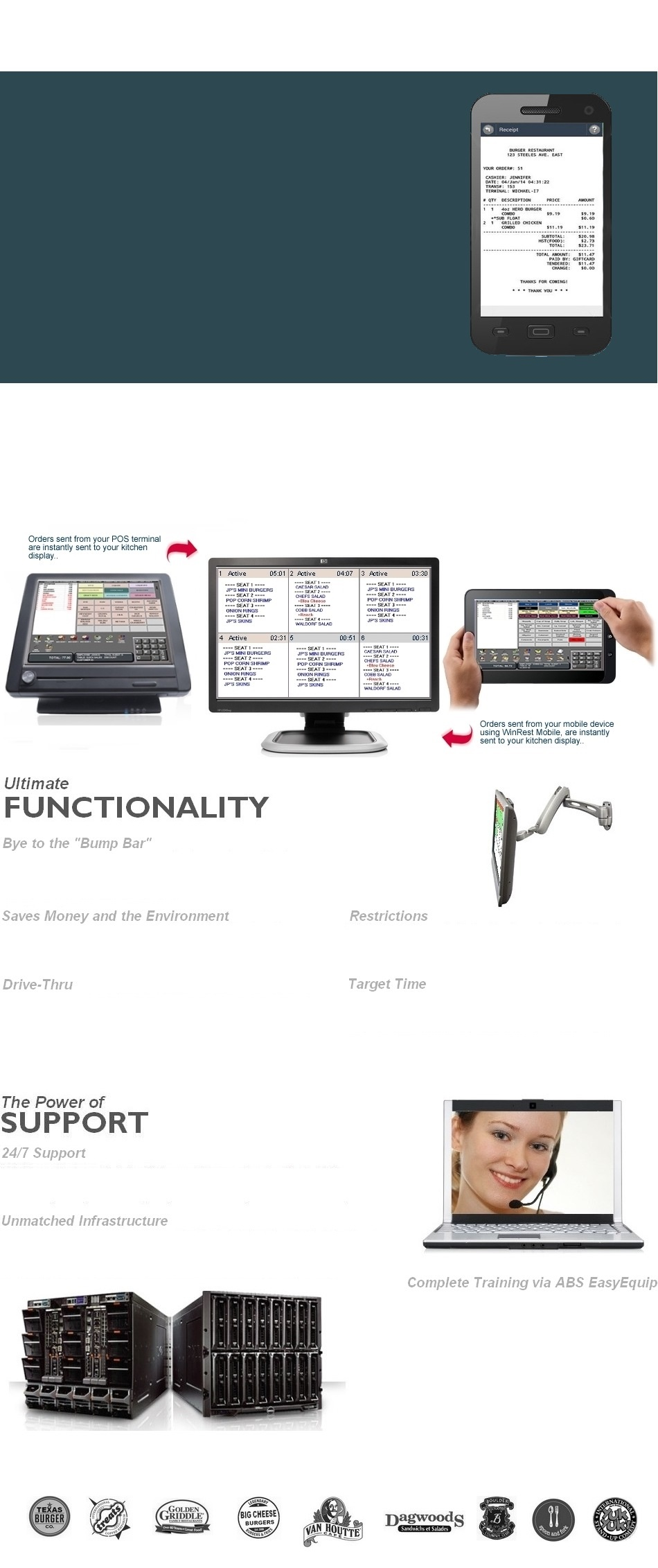 restaurant pos systems 繧箘 abs software for canada us europe